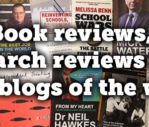 Book reviews, research reviews and 'best blogs of the week'