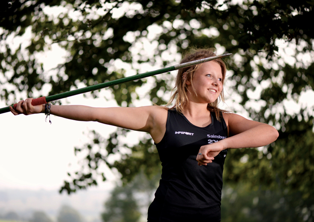 Going for gold: Alice joins young sporting elite
