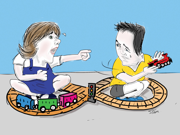 Morgan and Clegg in 'train of bureaucracy' spat