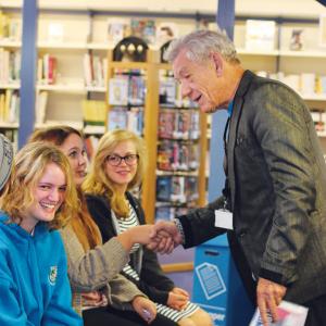 Sir Ian meets Chew Valley pupils