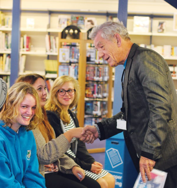 Sir Ian meets Chew Valley pupils