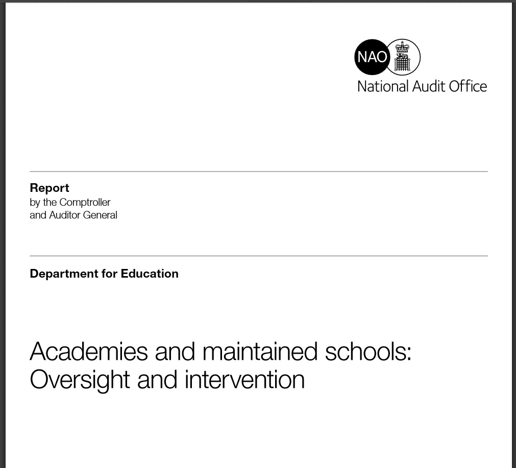Interventions in failing schools cost £382m a year - and 'make little difference', says public spending watchdog