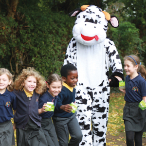 Student's moo-ve it for milk