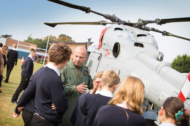 Chopper's flying visit