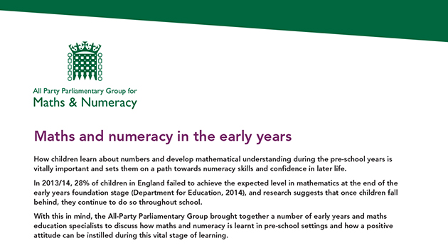MPs call for action claiming too many nursery children fall behind in maths