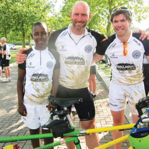 East End pair raise funds on a bicycle built for two