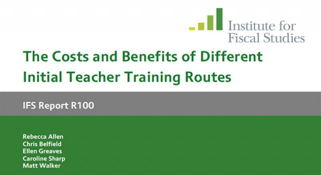 School-based teacher training of more benefit than university route find researchers