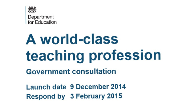 "DfE consults on plans for ""world-class teaching profession"""