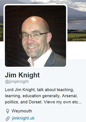 Jim Knight's profile on twitter