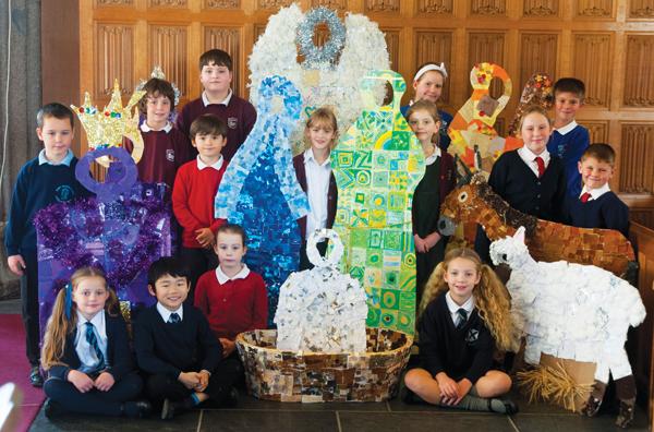 Giant nativity marks advent