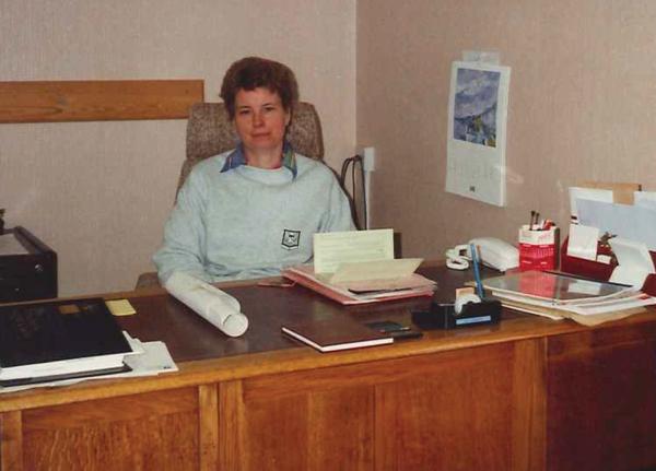 Newly arrived headteacher at Monks' Dyke School, 1994