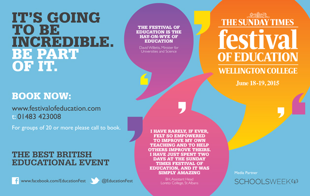 Schools Week announces media partnership with The Sunday Times Festival of Education