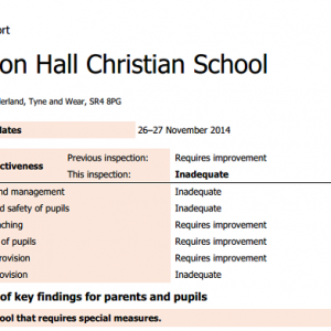 Inadequate free school facing forced takeover
