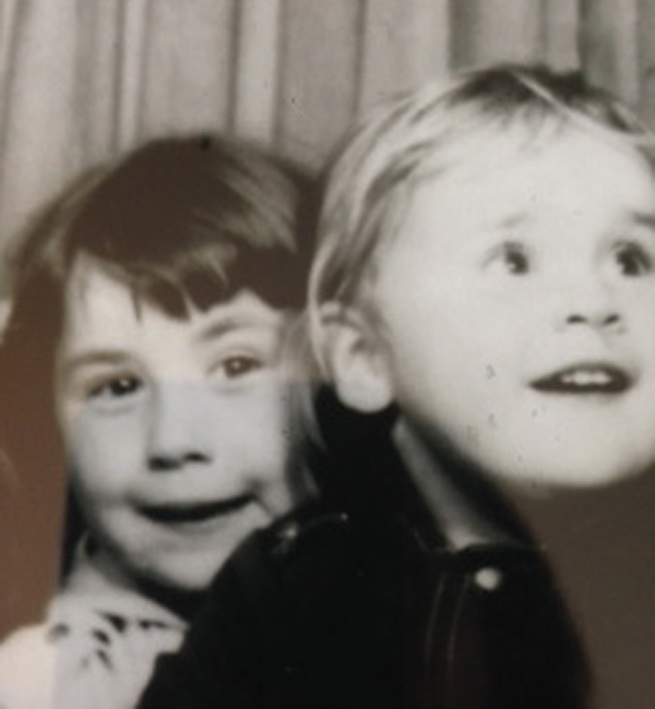 Jo-Anne with her sister, Sandra, at ages 5 and 3, respectively