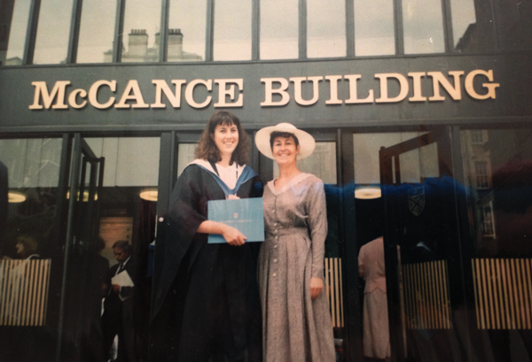 With her mother Josephine at her graduation from the University of Strathclyde