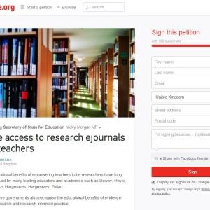 Journal access petition screengrab