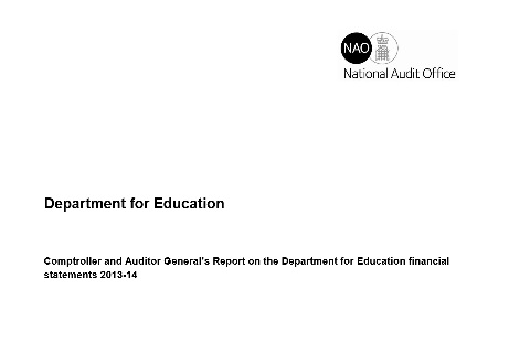 """Government watchdog says DfE annual accounts not a """"true reflection"""" of activity"""