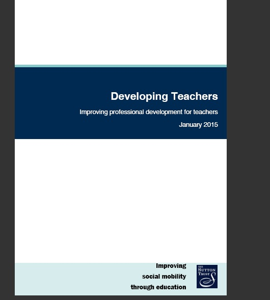 Heads urge improved professional training for teachers in new Sutton Trust report