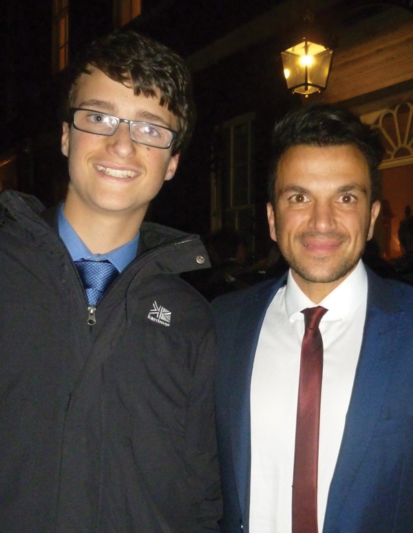 Adam meets with Peter Andre