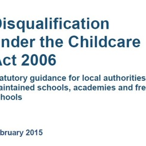 Disqualification by association: new guidance issued by DfE