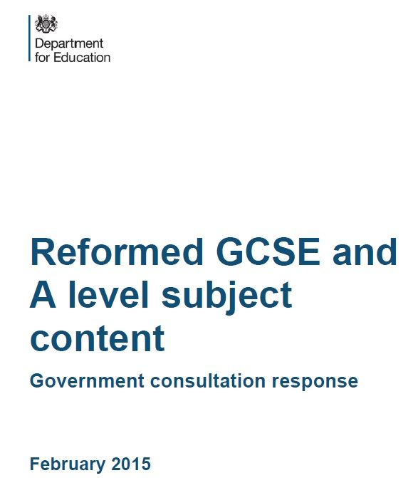 Revisions published for final reformed GCSE and A levels following consultation