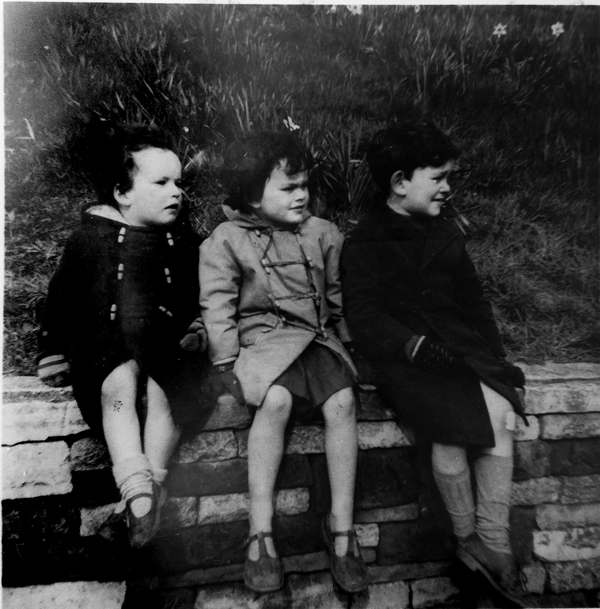 Henry with older brother and sister, Doncaster in 1963