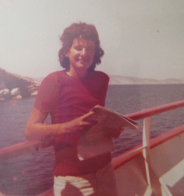 Henry on a day trip on a boat in Greece in 1975.