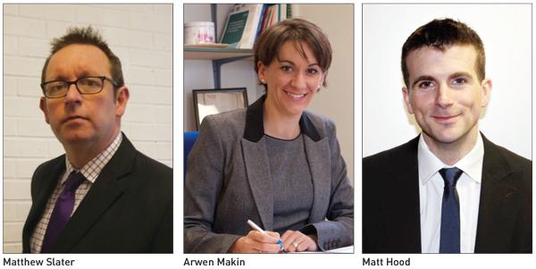 Matthew Slater, Arwen Makin and Matt Hood