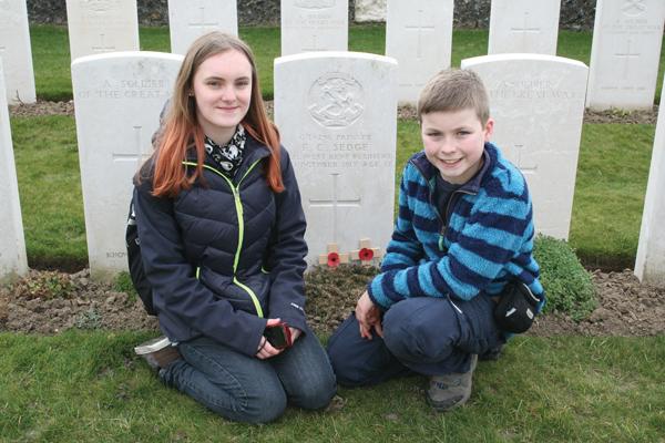 Silent tears as Leonie remembers a fallen soldier