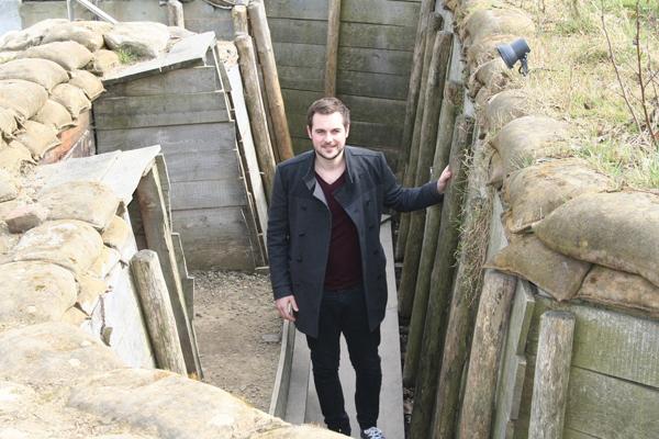 Reporter John Dickens explores the trenches at Passchendaele Memorial Museum in Belgium
