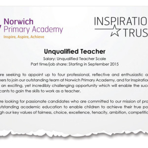 Norwich primary searches for four unqualified teachers
