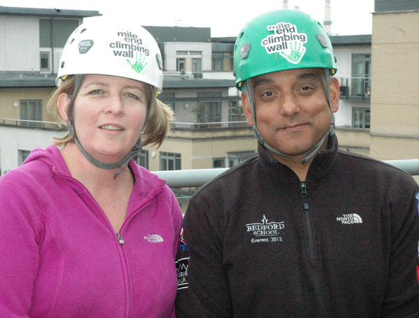 Heads are in the clouds as staff abseil for charity