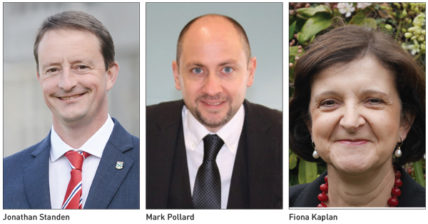 Movers & Shakers: Jonathan Standen, Mark Pollard and Fiona Kaplan