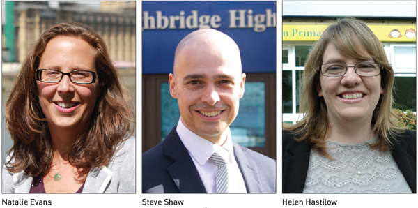 Natalie Evans, Steve Shaw and Helen Hastilow