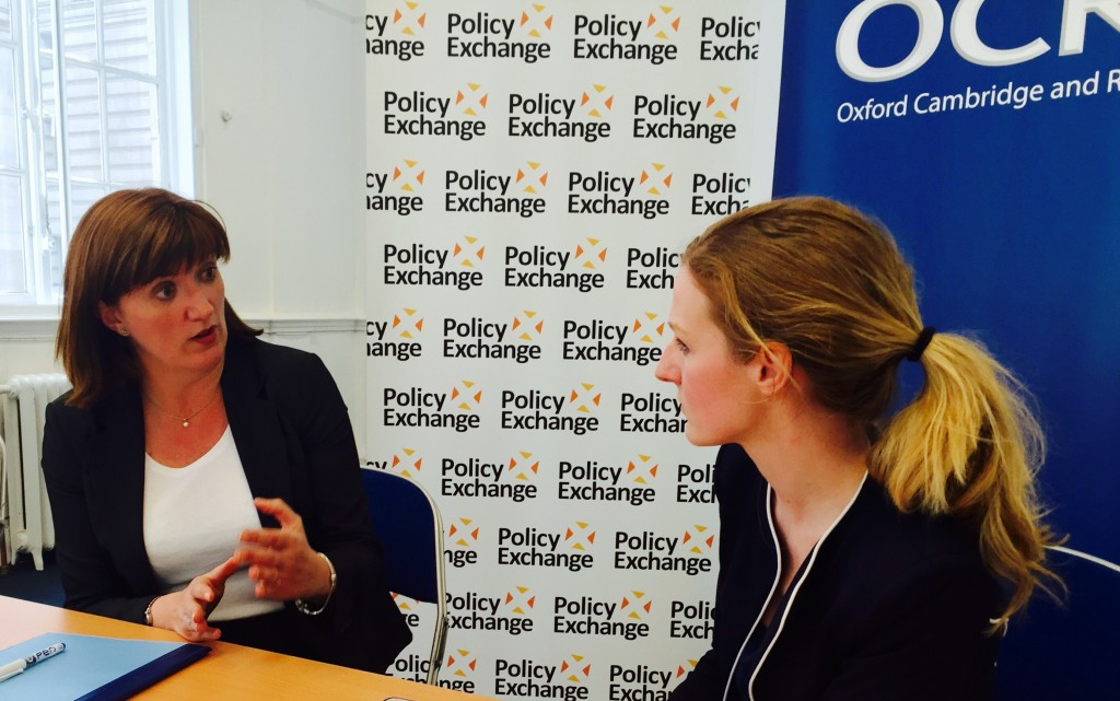 Schools Week editor interviews education secretary, Nicky Morgan - audio recording