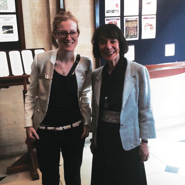 Carol Dweck with  Schools Week editor  Laura McInerney