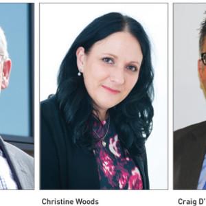 Sir Alasdair Macdonald, Christine Woods and Craig D'Cunha