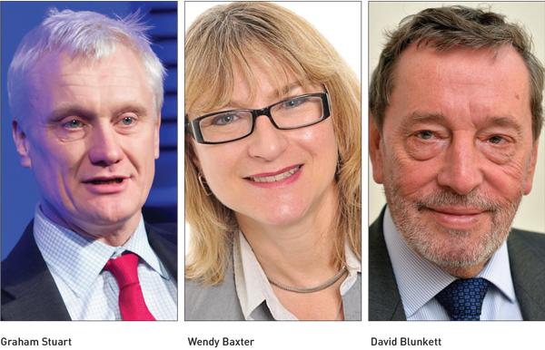 Graham Stuart, Wendy Baxter and David Blunkett
