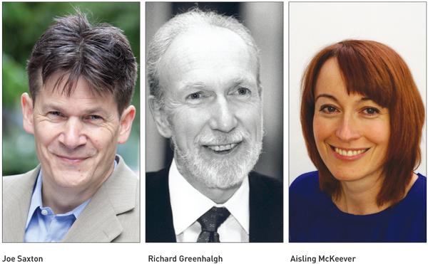Joe Saxton, Richard Greenhalgh and Aisling McKeever
