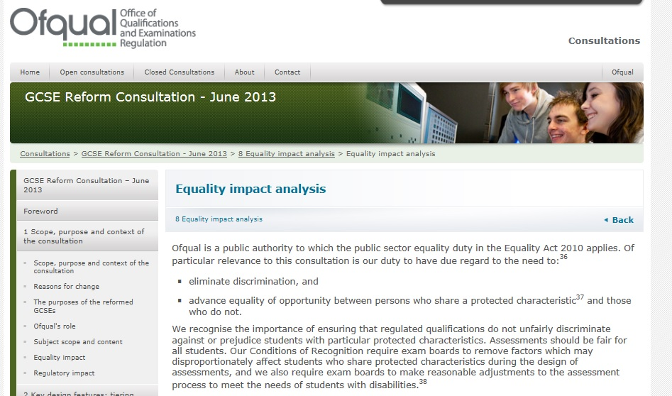 Ofqual's consultation