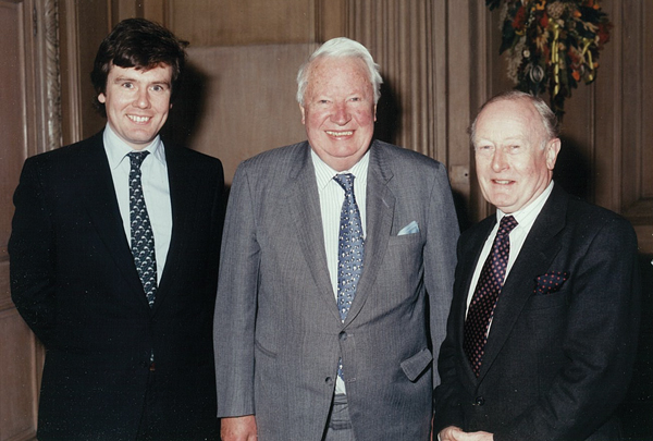 With Ted Heath and Giles Shaw in 1994