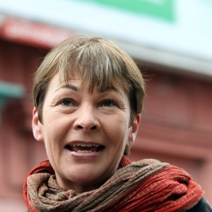 Green Party Brighton Pavilion parliamentary candidate Caroline Lucas during the launch of the Green Party billboard campaign in Brighton.