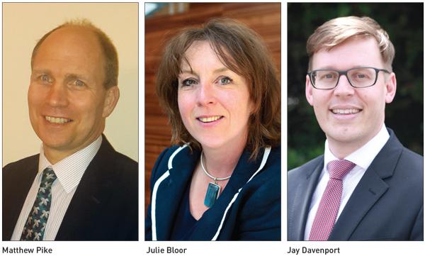 Matthew Pike, Julie Bloor and Jay Davenport