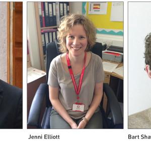 Dan Roberts, Jenni Elliott and Bart Shaw