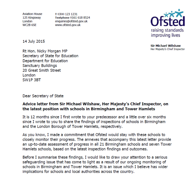 "Birmingham and Tower Hamlets schools ""improving slowly"" after Ofsted targeted inspections"