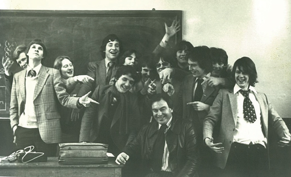 With his first-year politics classmates