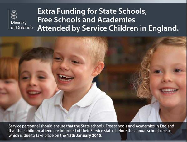 DfE produces no data on achievement of service personnel children