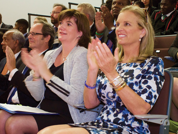 Education secretary Nicky Morgan joins Kerry Kennedy at the launch