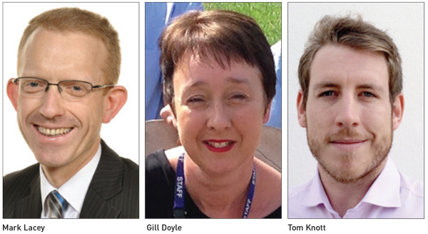 Movers & Shakers: Mark Lacey, Gill Doyle and Tom Knott