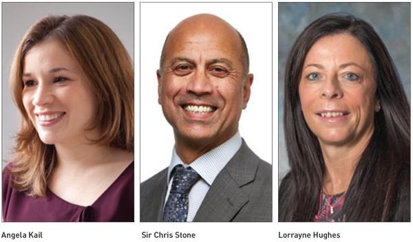 Movers & Shakers: Angela Kail, Sir Chris Stone and Lorrayne Hughes